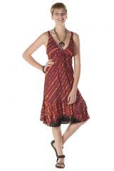 Robe courte été femme originale col V Osanna 288165
