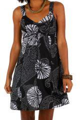 Robe courte ethnique en coton idéale pour la plage Tricya 307068