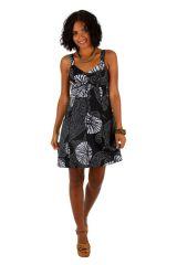 Robe courte ethnique en coton idéale pour la plage Tricya 307069