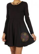 Robe courte ethnique et originale pour femme Sinfra 314008