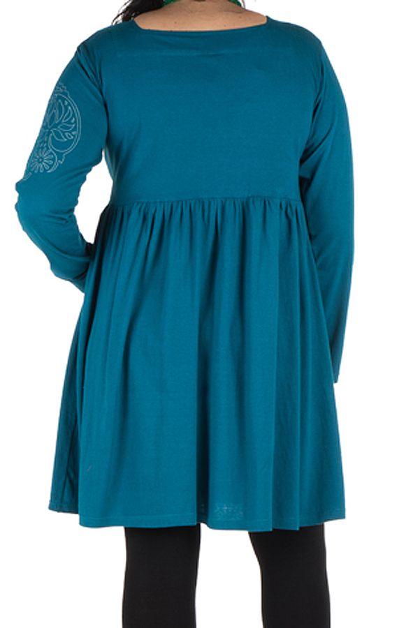 Robe courte évasée à la taille et détails brodés à la main Aquadream 302085