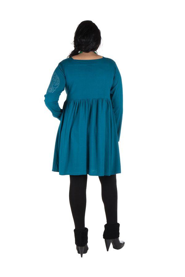 Robe courte évasée à la taille et détails brodés à la main Aquadream 302087