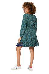 Robe courte évasée à volants femme boho style Mia