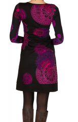 Robe courte féminine à col rond et manches longues Talissa 299096