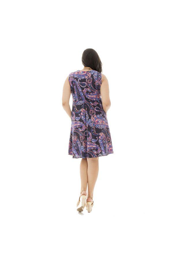 Robe courte féminine idéale été avec ses imprimés ethniques Eloa 290409
