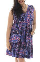 Robe courte féminine idéale été avec ses imprimés ethniques Eloa 291942