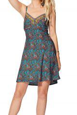 robe courte femme caraco imprimé ethnique style nuisette Rosina Rosina