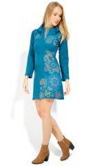 Robe courte femme coton à manches longues Tunasa 323080