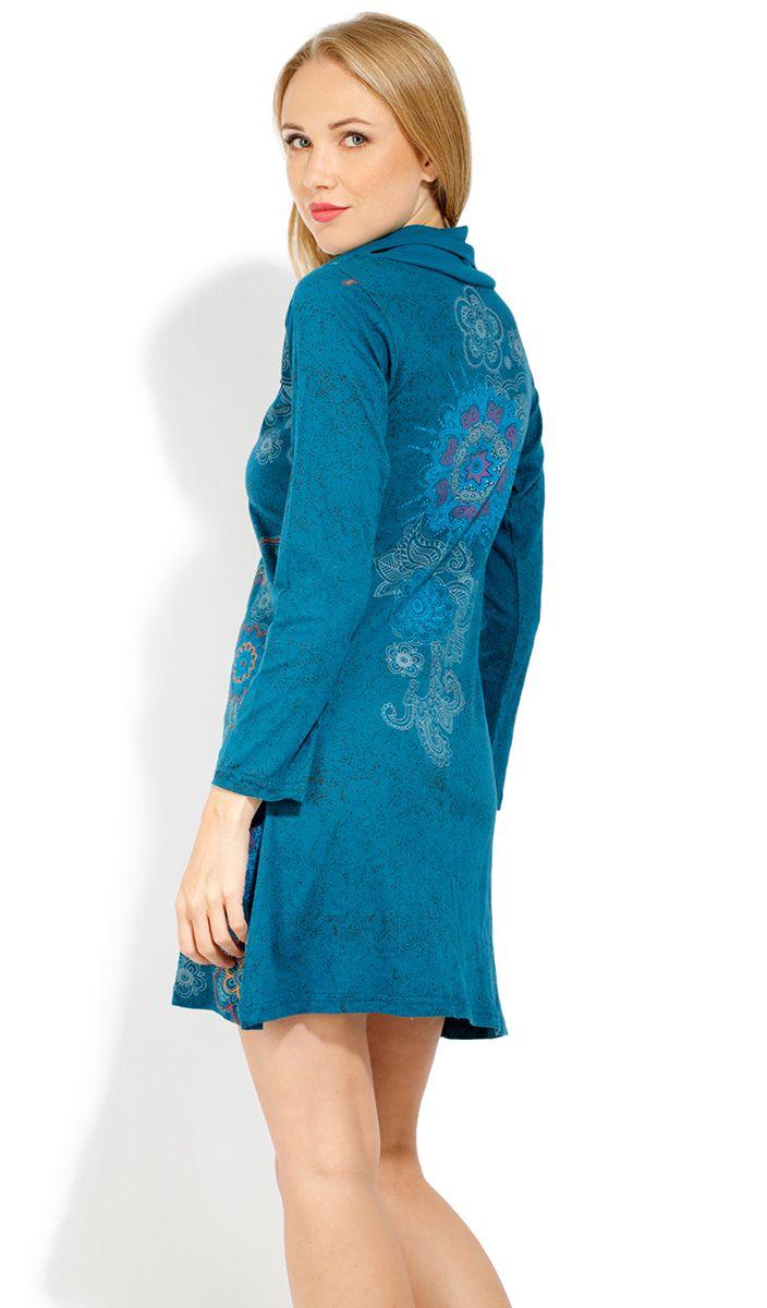 Robe courte femme coton à manches longues Tunasa 323081