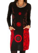 Robe courte femme d'hiver ethnique et colorée Damaturu 313428