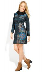 Robe courte femme en coton chic et originale Tunasi 323085
