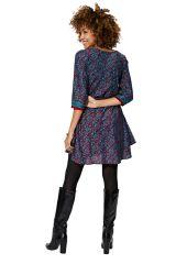Robe courte femme fluide bohème fantaisie et colorée Vienna