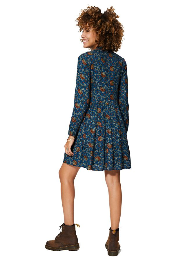 Robe courte femme imprimé chic ethnique pas cher Magnolia