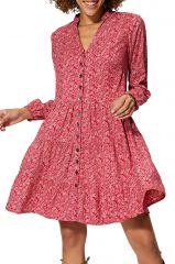 Robe courte femme imprimé fleurs chic ethnique mode Mikayla
