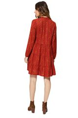Robe courte femme imprimé fleurs chic ethnique pas cher Kyla