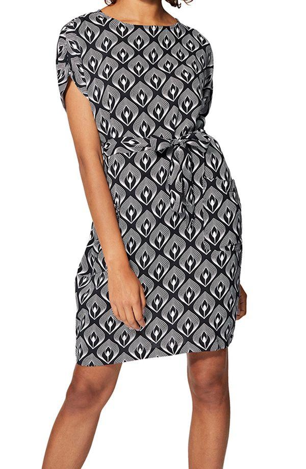 Robe courte femme mode chic ethnique plume été originale Hege