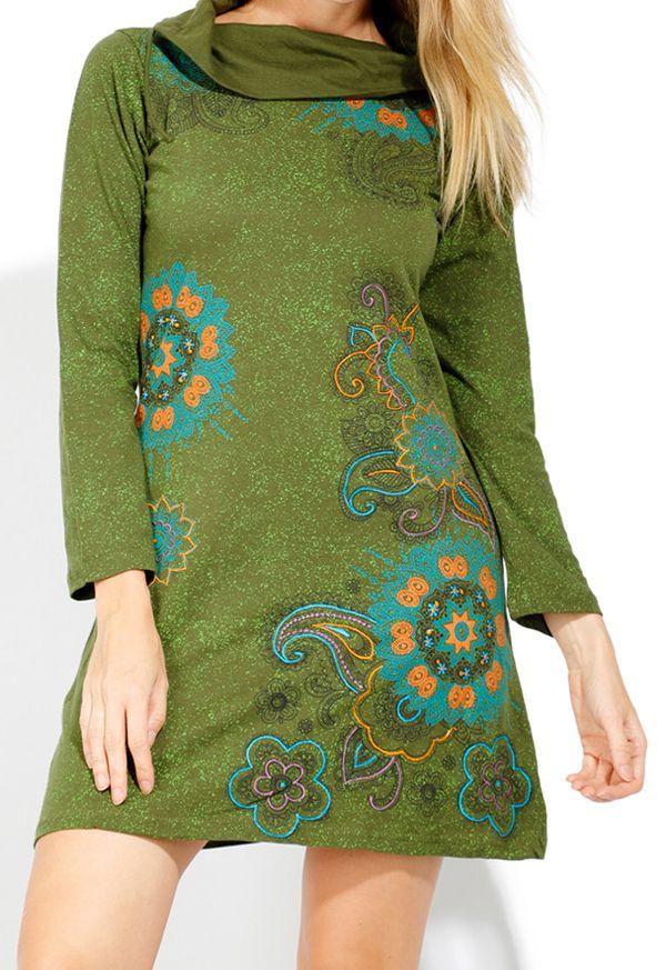 Robe courte femme pas chère pour l'hiver Tunasou 323086