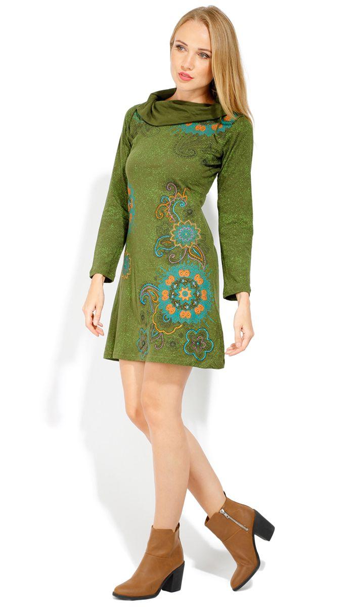 Robe courte femme pas chère pour l'hiver Tunasou 323089