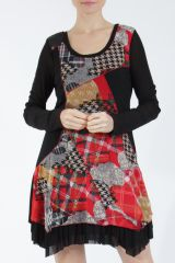 cc34740d712 Robe d hiver originale pour femmes robe imprimée colorée et ethnique