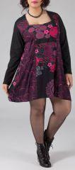 Robe courte femme pulpeuse Ethnique et Originale Kadija Rose 274893