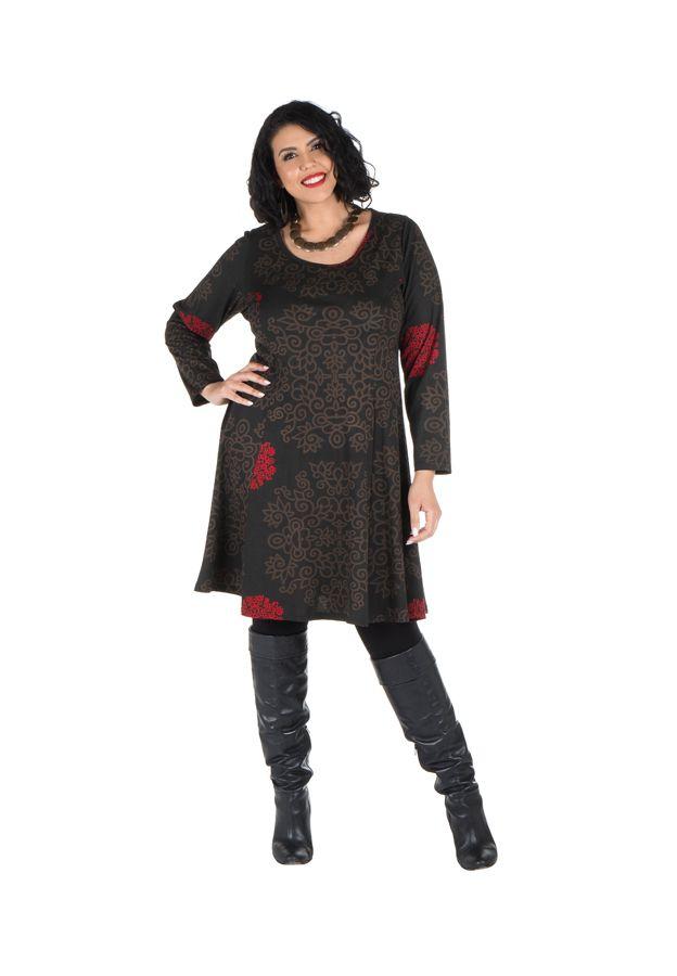 Robe courte femme ronde et imprimés fantaisies ethniques Korry 302223