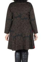 Robe courte femme ronde et imprimés fantaisies ethniques Korry 302224