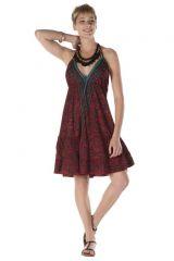 Robe courte fluide dos-nu ethnique style indien Gaya 288208