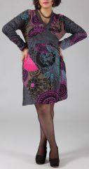 Robe courte grande taille Colorée et Originale Hannae 274780