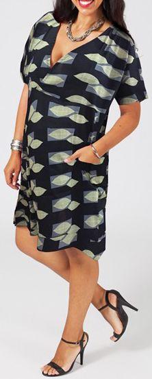 Robe courte grande taille colorée pas chère Cilie 271187