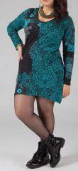 Robe courte grande taille Ethnique et Originale Hajar Verte 274766