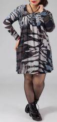 Robe courte grande taille Ethnique et Originale Kady Imprimée Nature 274896
