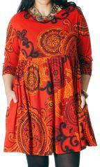 Robe courte Grande taille Originale et Fantaisie Grenade Orange 286762