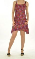 Robe courte imprimé lallu violette 244381