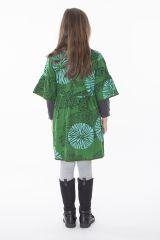 Robe courte imprimée avec deux poches pour fille 287238