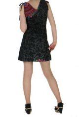 Robe courte imprimée fashion nawar noire 261017
