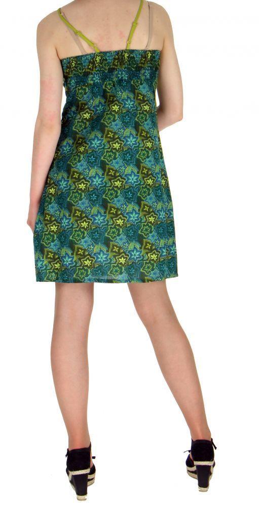 Robe courte imprimée lylops bleue 255145