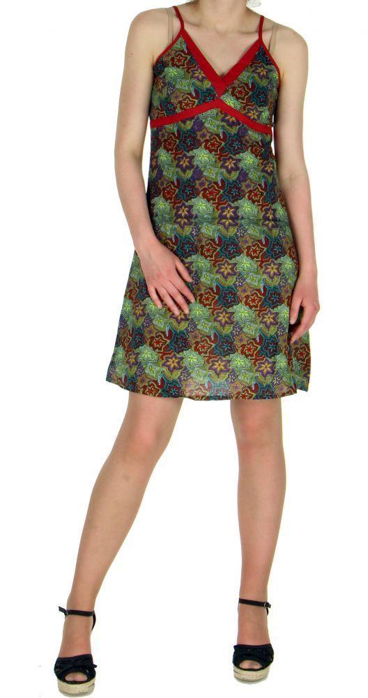 Robe courte imprimée lylops vert 245116