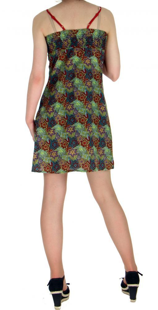 Robe courte imprimée lylops vert 255147
