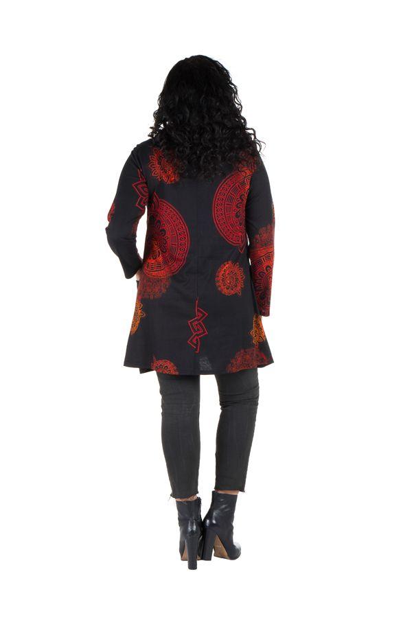 Robe courte imprimés mandala à manches longues Fire 301982