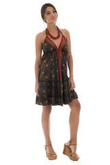 robe courte légère dos nu et bretelles à nouer Vesna 289898