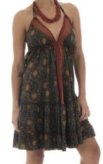 robe courte légère dos nu et bretelles à nouer Vesna 292144