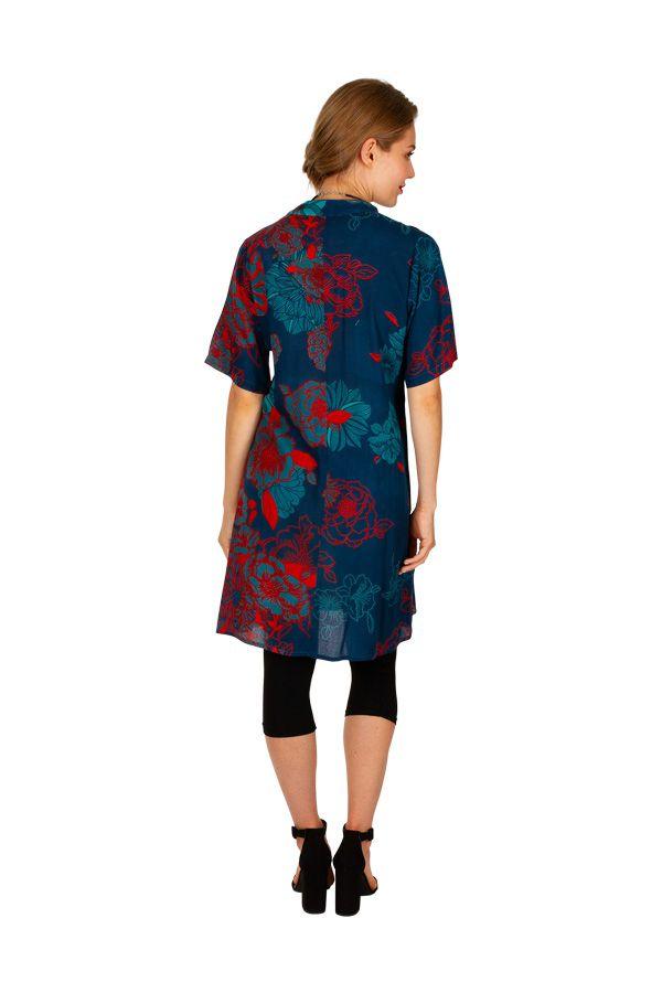 Robe courte multicolore avec un imprimé exotique Aby