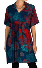 Robe courte multicolore avec un imprimé exotique Aby 306336
