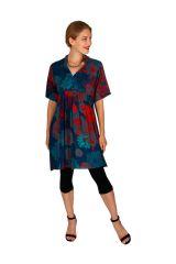 Robe courte multicolore avec un imprimé exotique Aby 306337