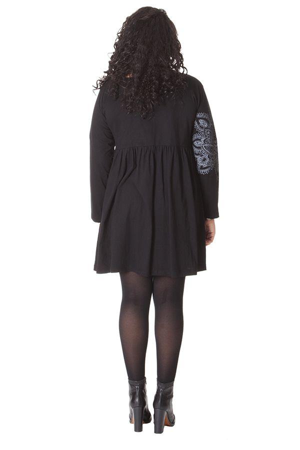 Robe courte Noire Chic et Ethnique en grande taille Nyasia 286128