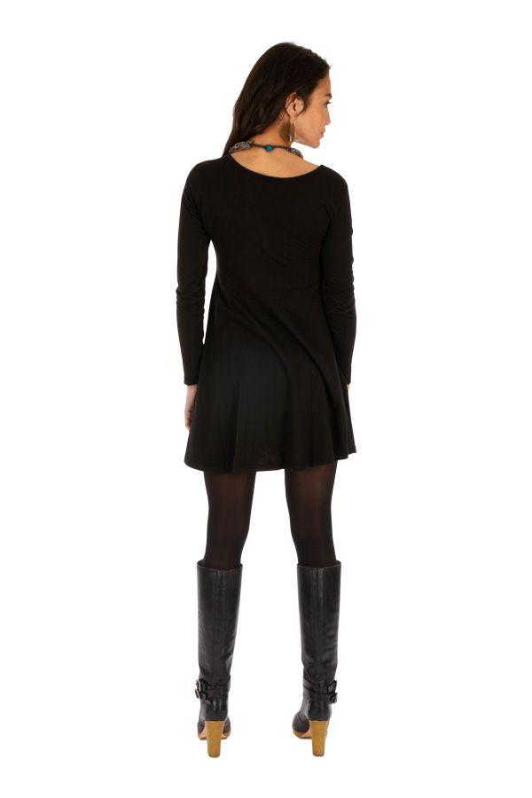 Robe courte noire d'hiver originale et ethnique Bumba 313951