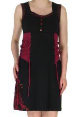 Robe courte Noire sans manches Ethnique et Elfique Marie 283991