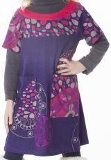 Robe courte originale avec un imprimé coloré pour fille 287276