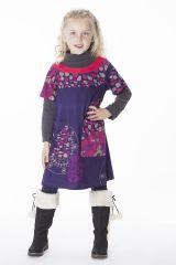 Robe courte originale avec un imprimé coloré pour fille 287277