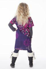 Robe courte originale avec un imprimé coloré pour fille 287278